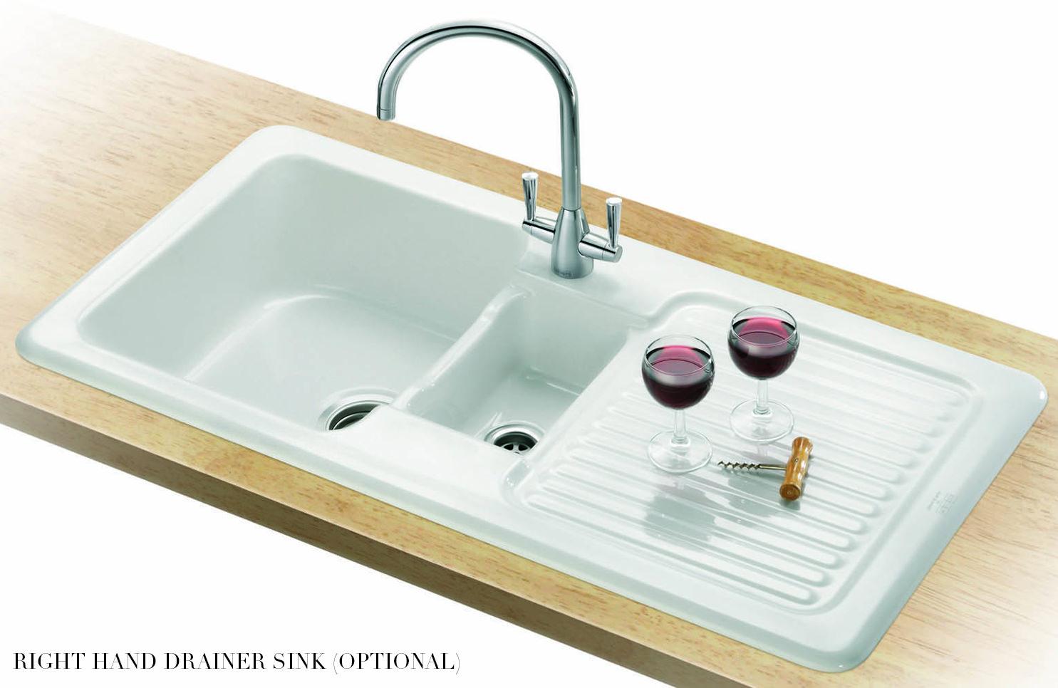 Franke Ceramic Sink : ... of Franke V And B VBK 651 White Ceramic 1.5 Bowl Kitchen Inset Sink