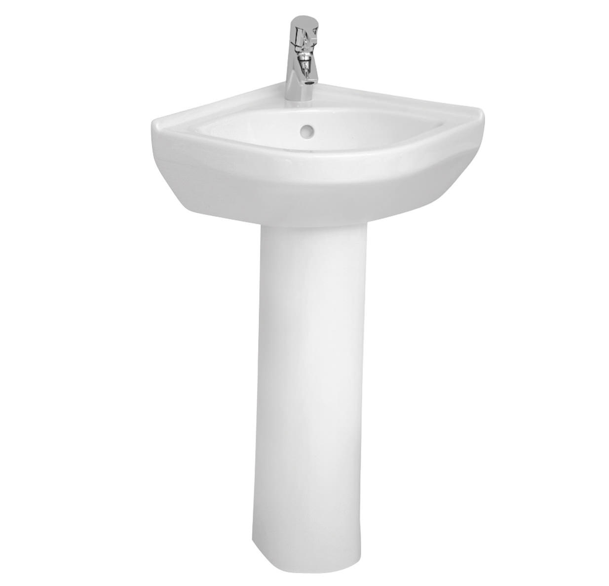 ... basins corner basins vitra s50 corner basin 400mm with full pedestal