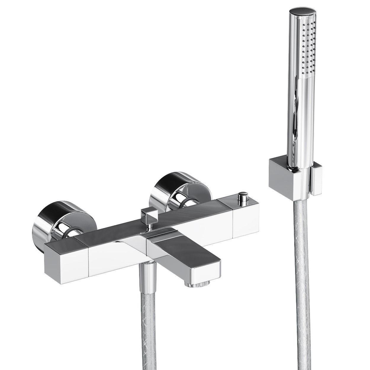 abode fervour thermostatic wall mounted bath shower mixer tap