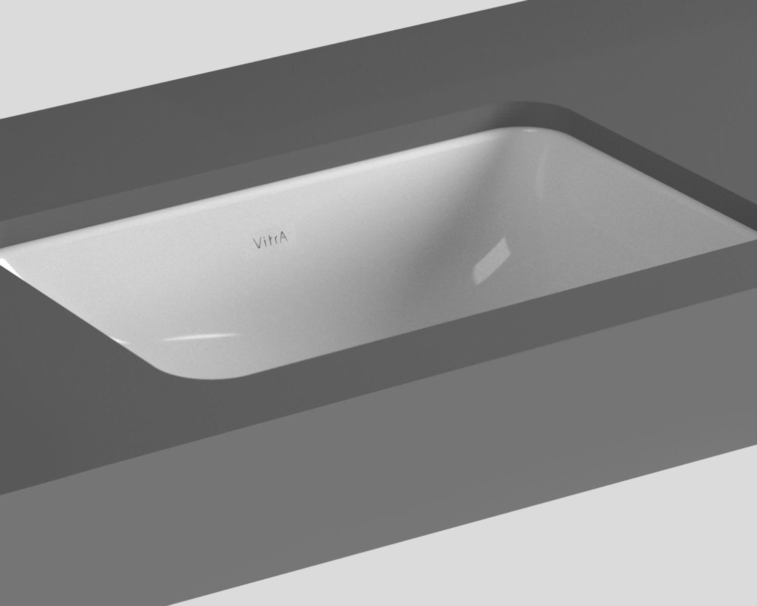 Commercial Basin : VitrA S20 Commercial 38cm Under-Counter Basin Square - 5473 Image