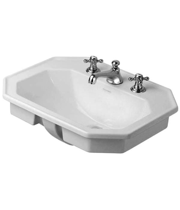 duravit 1930 series 580mm countertop vanity basin 3 tap hole. Black Bedroom Furniture Sets. Home Design Ideas