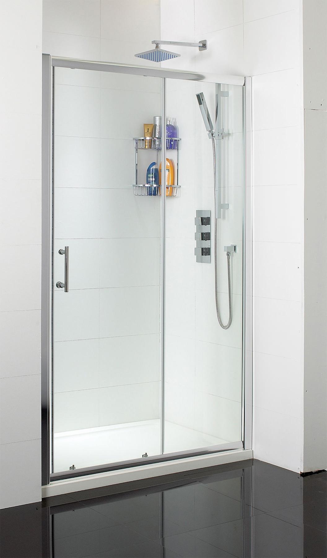 Phoenix single sliding shower door 1000mm se007 for 1000mm sliding shower door