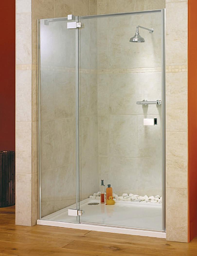 Lakes italia vittoria frame less hinged shower door 1200 x for 1200 shower door