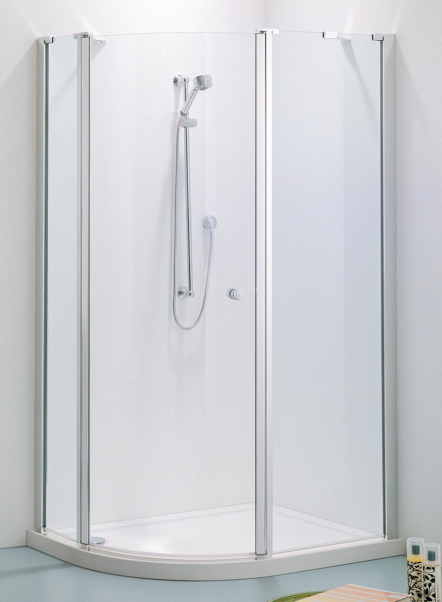 Adamsez offset quadrant hinged door enclosure 1200 x 900 for 1200 shower door hinged