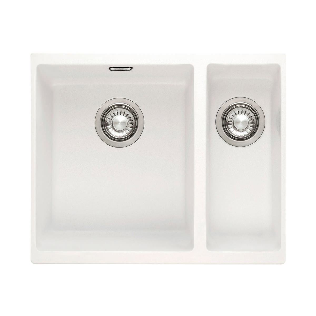 Franke Sirius SID 160 White Tectonite 1.5 Bowl Kitchen Undermount Sink ...