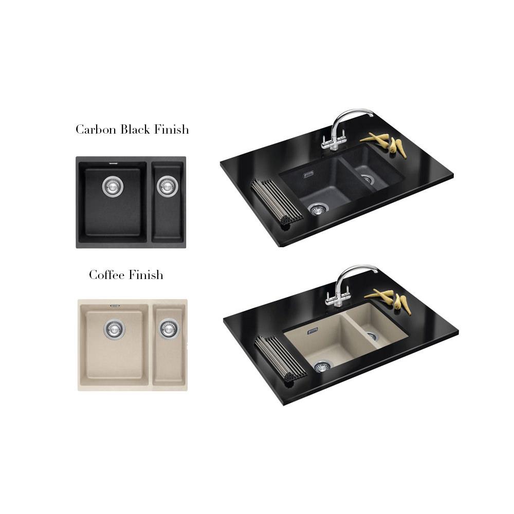 ... Franke Sirius SID 160 White Tectonite 1.5 Bowl Kitchen Undermount Sink