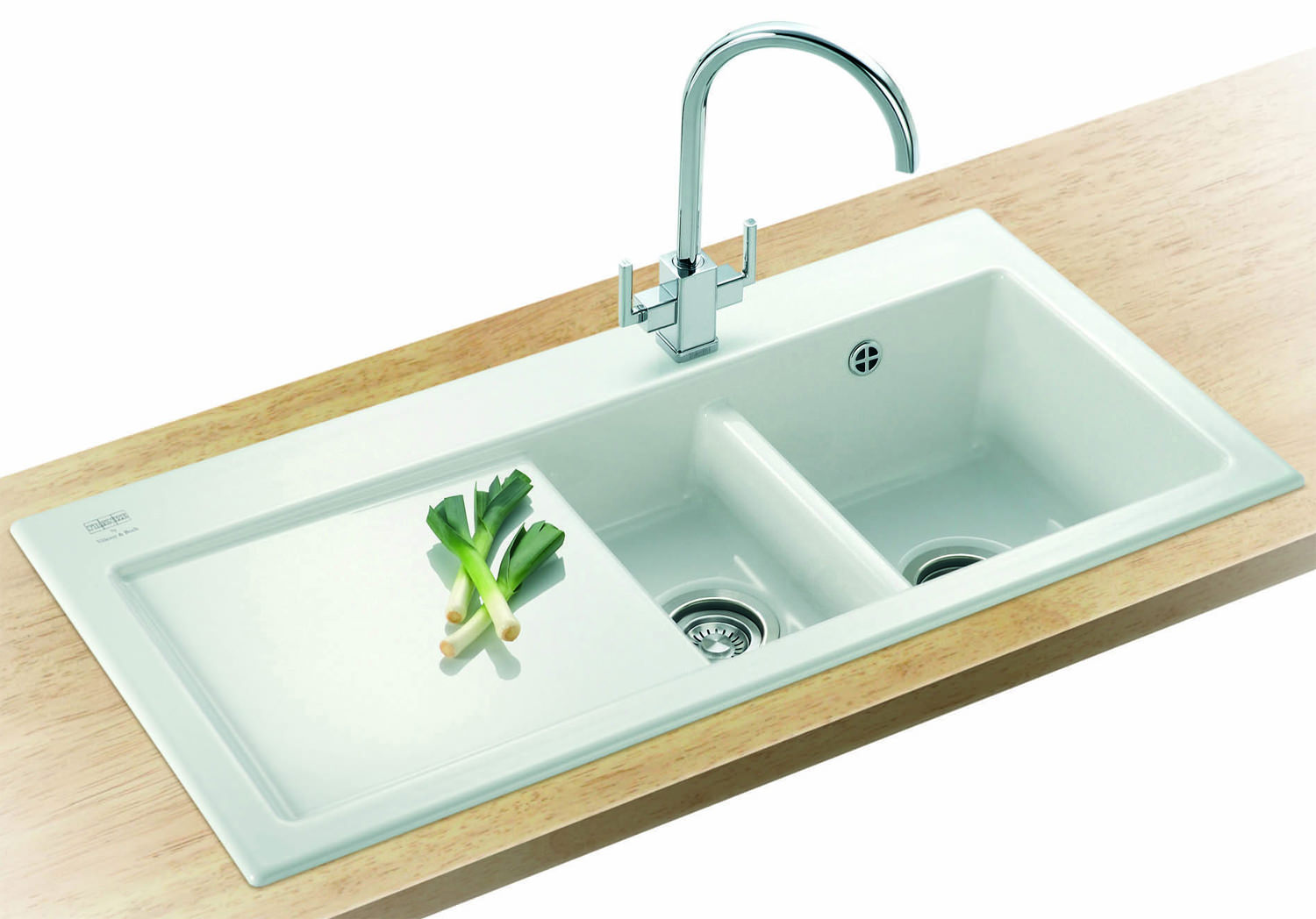 Image 3 of Franke Mythos MTK 651 Ceramic 1.5 Bowl Kitchen Inset Sink