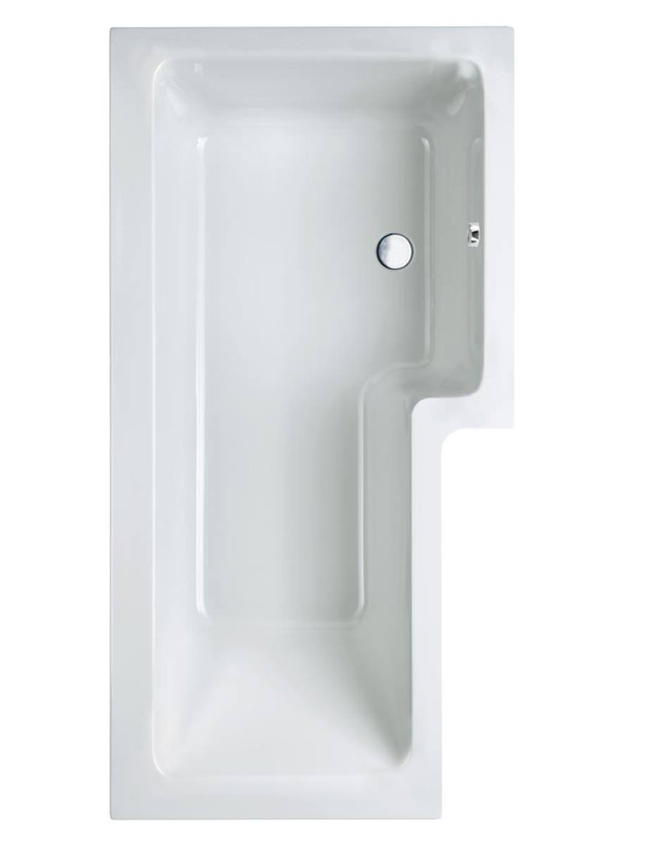 Carron Quantum Square 5mm Acrylic Shower Bath 1500 X 850mm Rh