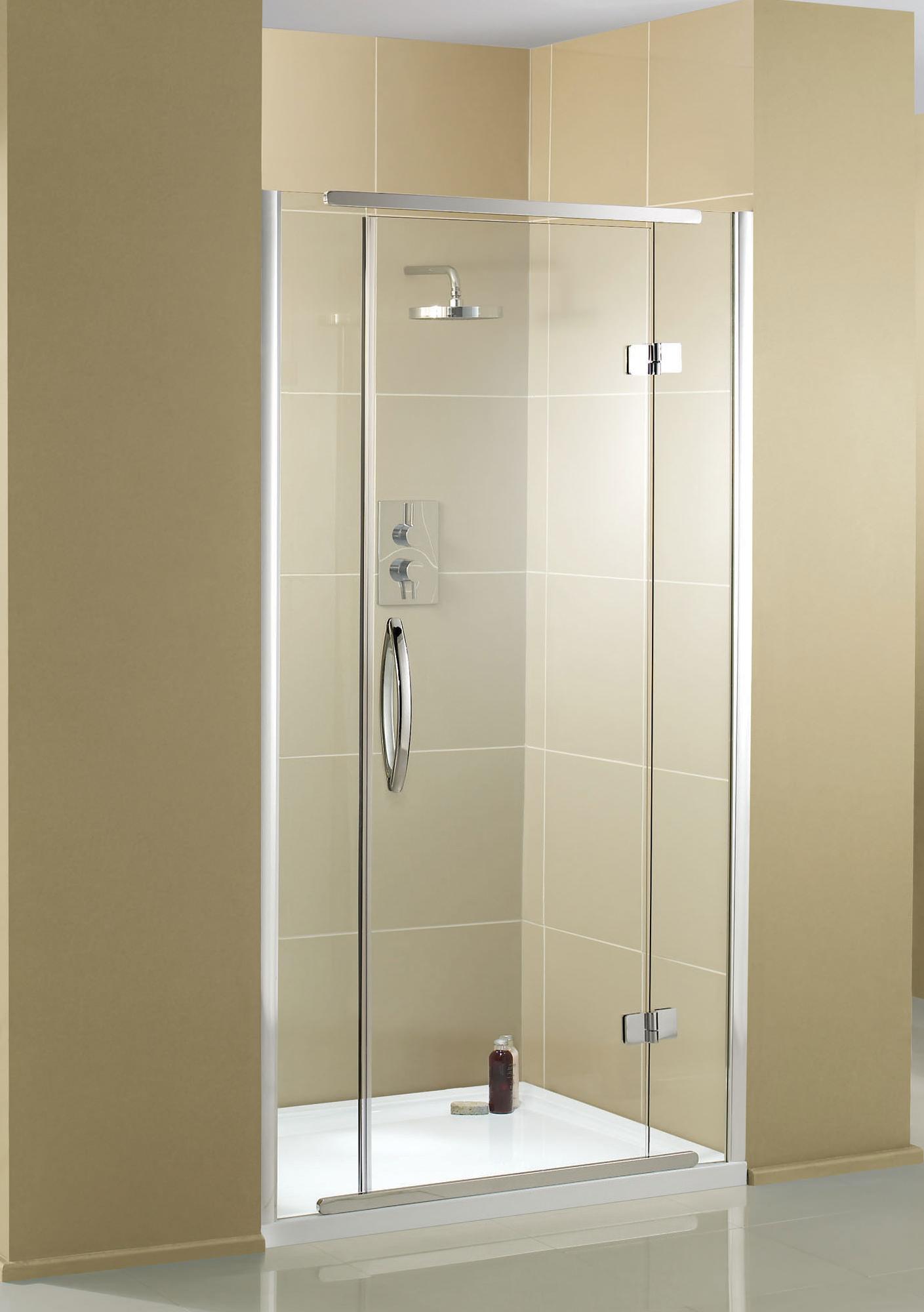 Aquadart inline recess hinged shower door 1200mm aq1013 for 1200mm shower door