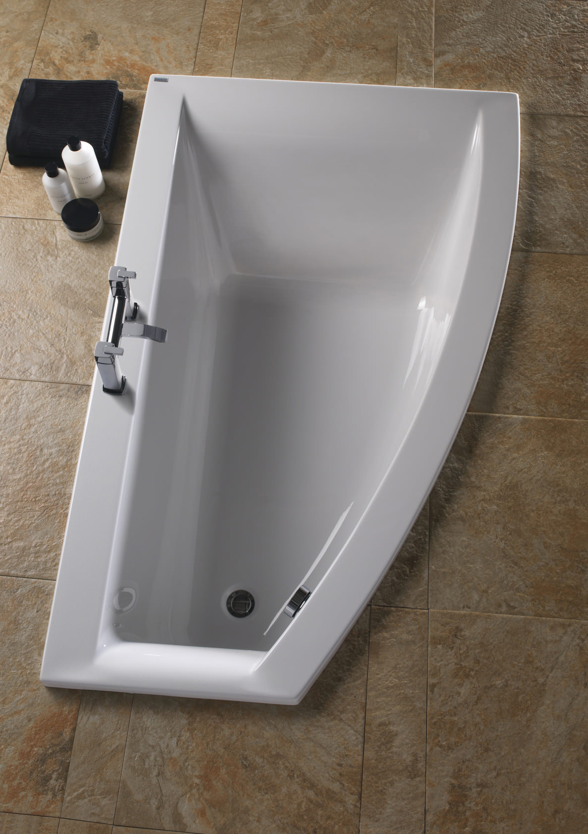 Twyford Indulgence Offset Corner Bath 1600 X 500 1000mm