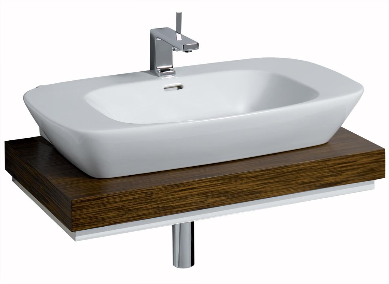 Countertop Shelf : ... of Twyford Vello 800mm Countertop Basin And 800mm Shelf - VO4741WH