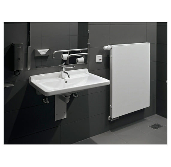 Duravit Wall Hung Basin : Image 4 of Duravit Starck 3 Wall Hung Basin with Overflow 700mm ...
