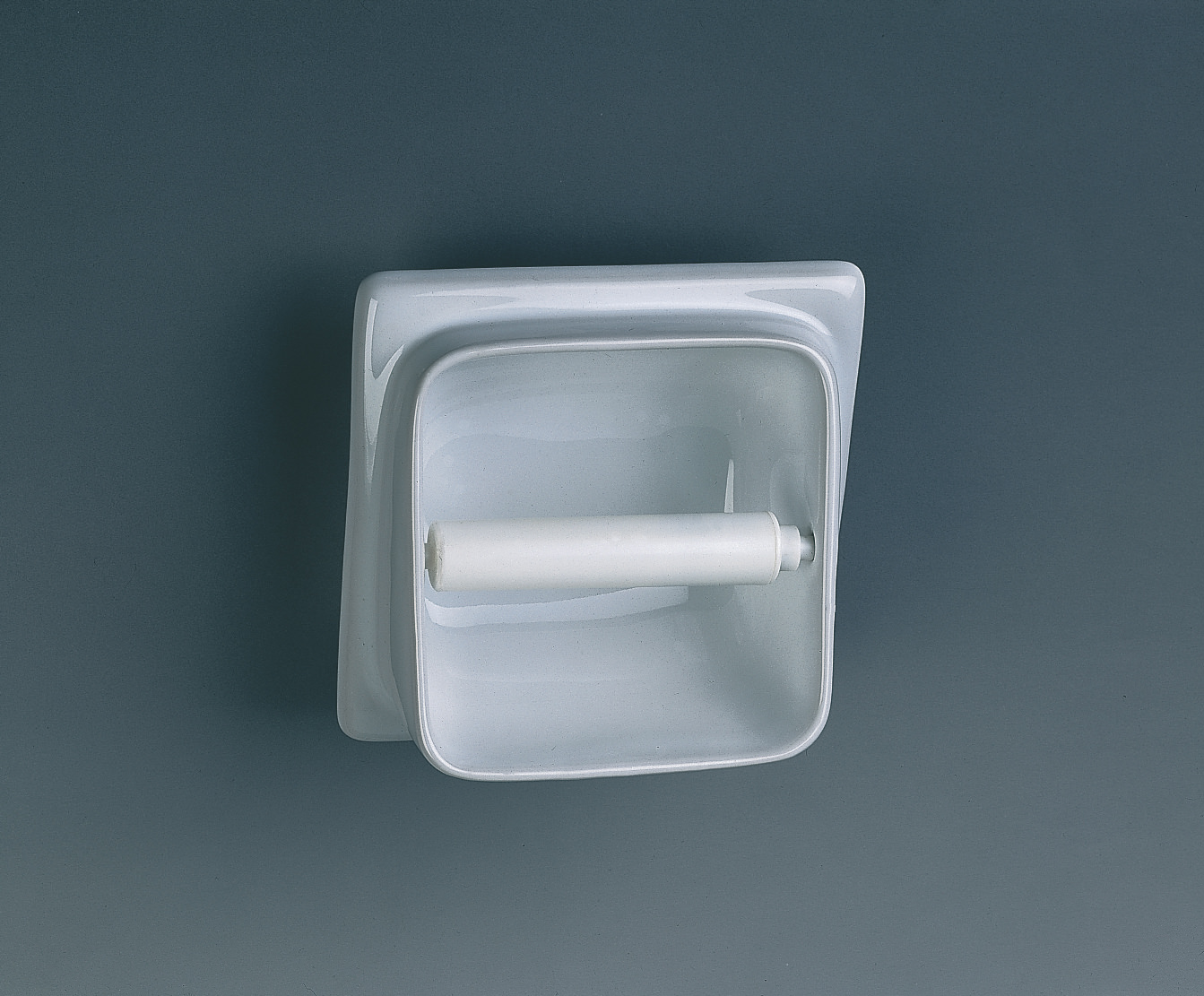 Twyford built in semi recessed toilet roll holder vc9806wh - Ceramic recessed toilet roll holder ...