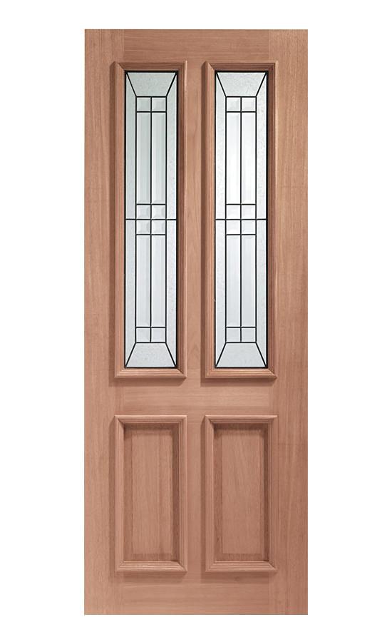 Xl external hardwood malton diamond triple glazed door for Triple glazed doors