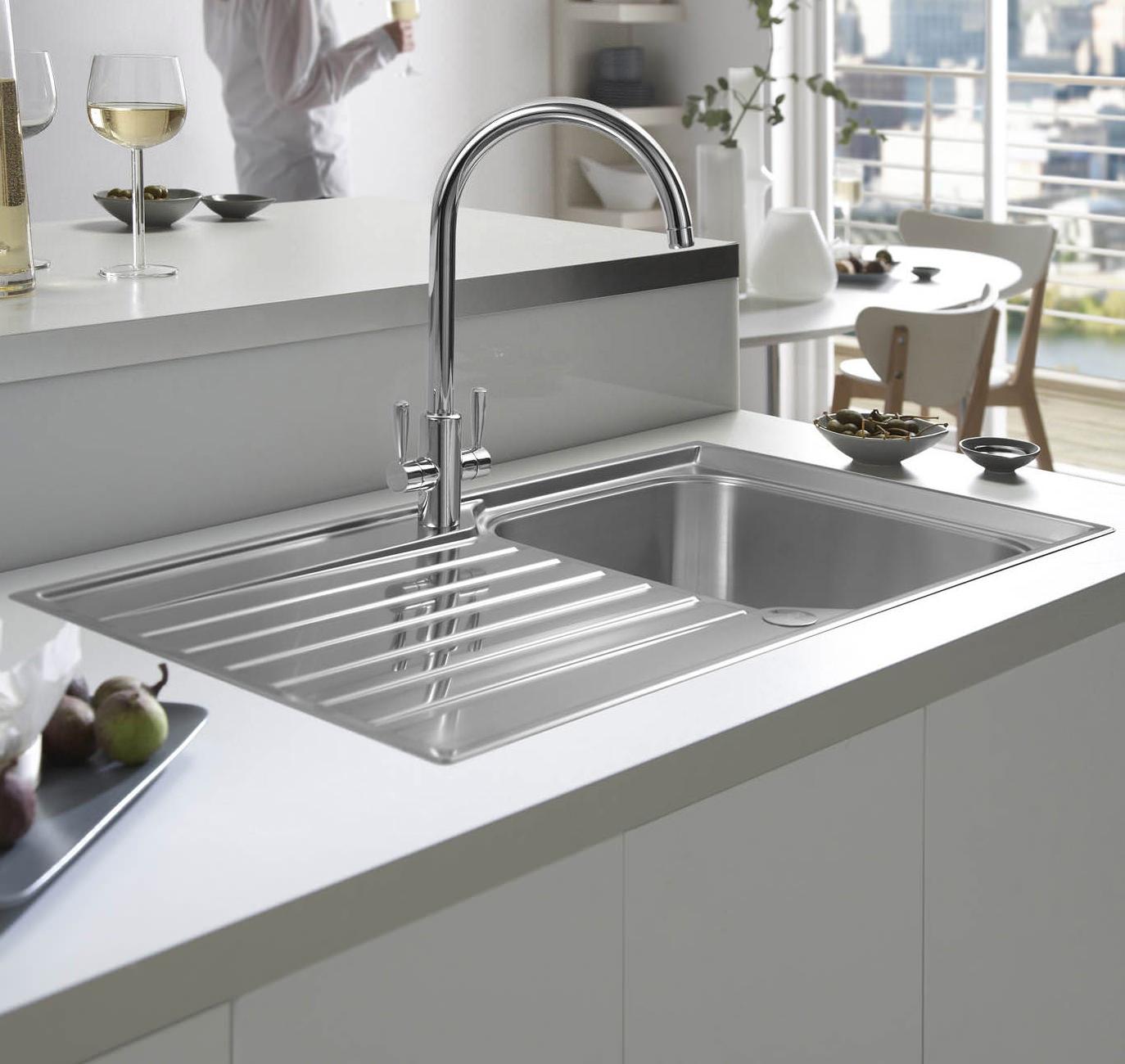 Franke Inset Sink : ... of Franke Ascona ASX 611-100 Stainless Steel 1.0 Bowl Inset Sink