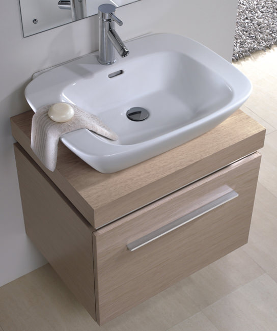 Countertop Unit : ... Twyford Vello 600mm Countertop Basin With 600mm Shelf And Vanity Unit