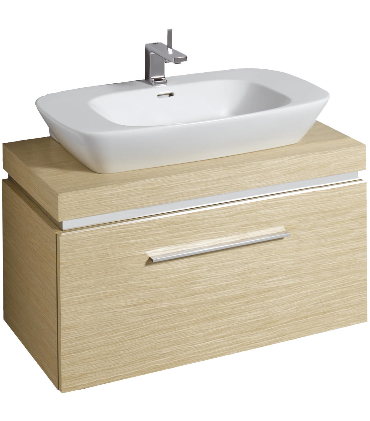 Countertop Shelf : Twyford Vello 800mm Countertop Basin With 1000mm Shelf And Vanity Unit ...