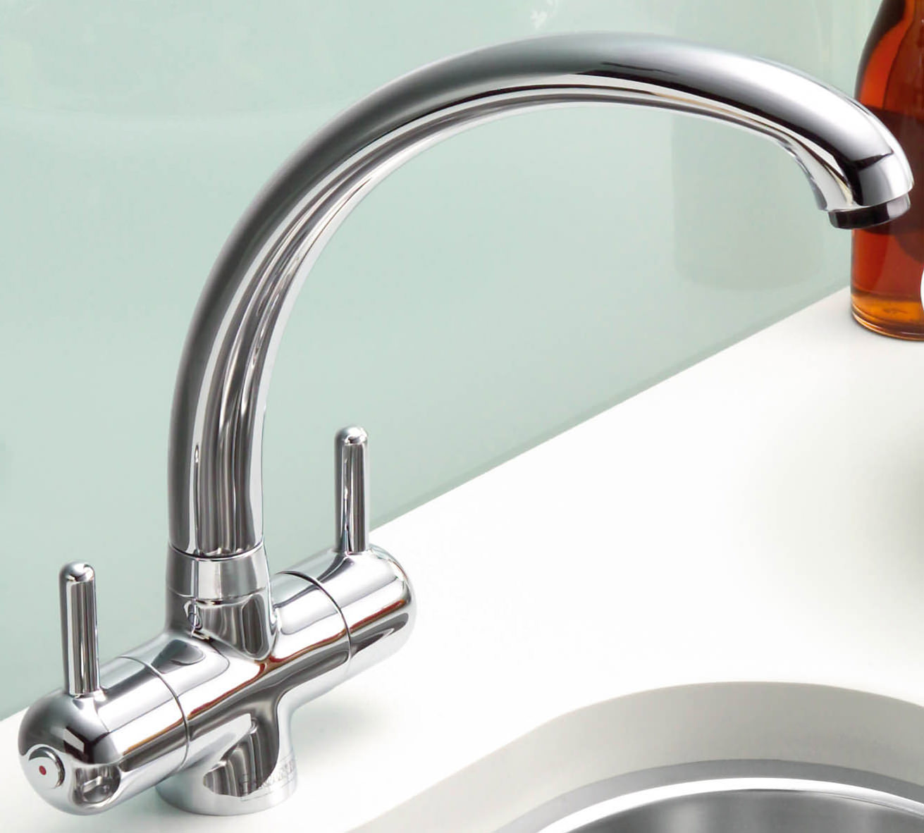 Franke Sink Mixer Taps : Image 4 of Franke FilterFlow Zurich Kitchen Sink Mixer Tap Chrome