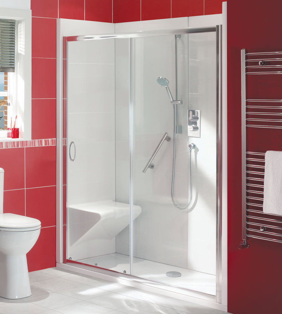 balterley bath out shower in enclosure package with seat glass shower doors bathtub home improvement