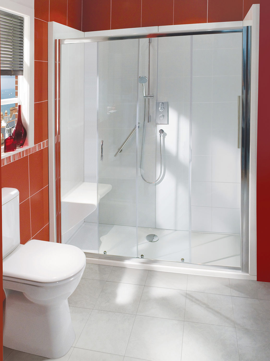 balterley bath out shower in enclosure package with seat